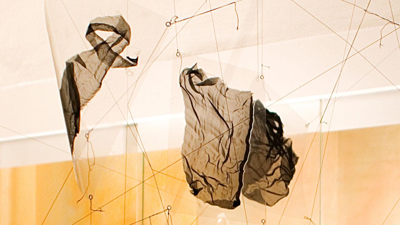 Chiffon laminiert, Kunstsalon Fürth, 2009