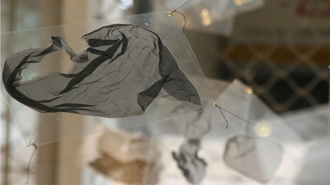 Chiffon laminiert, Galeriehaus Defet, 2009