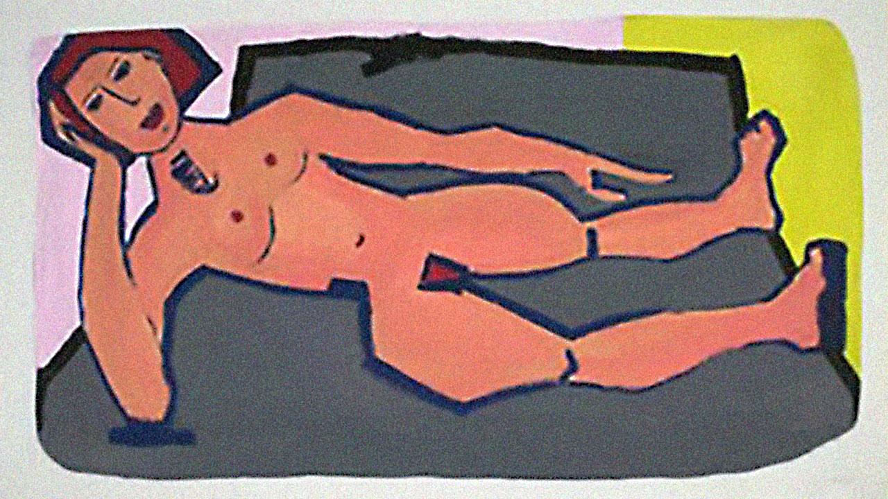Die Grosse Liegende, Acryl, 2004