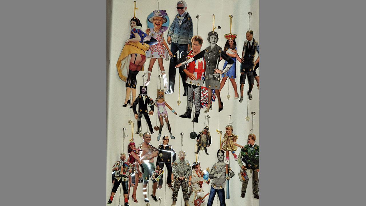 Celebrities, Presseausschnitte, laminiert, genietet, 2014